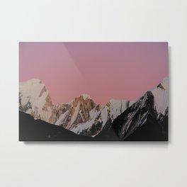 Sunset Peak Metal Print
