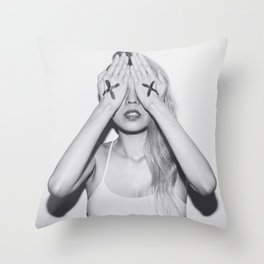 Tribute To KAWS Throw Pillow