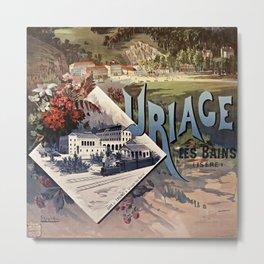 Poster of the PLM railway company: Uriage-les-Bains Metal Print