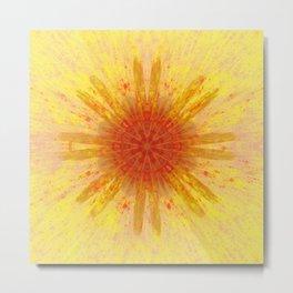 Explosion Fire Metal Print