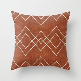 Nudo in Rust Throw Pillow