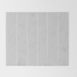 French Grey Linen Stripe Throw Blanket