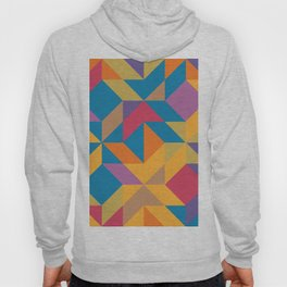 Blue Orange Magenta Yellow Geometric Abstract Hoody