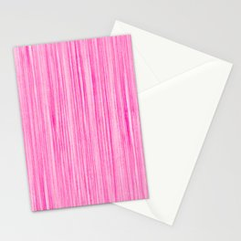 Luscious Lollypop Pink Striped Candy Design Stationery Cards