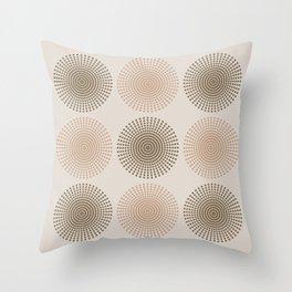 ARIES MANDALA in SAND Throw Pillow