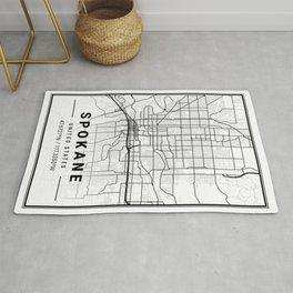 Spokane Light City Map Rug