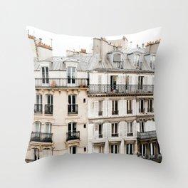 Paris France Buildings Throw Pillow
