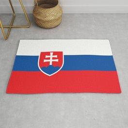 Slovakian Flag of Slovakia  Rug