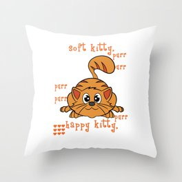 A perfect gift for cat lovers, pet lovers, who mostly like kitten, pussy cat Happy Soft & Warm Kitty Throw Pillow