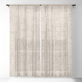 She's Beige Sheer Curtain
