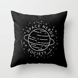 Space Nerds Society Throw Pillow