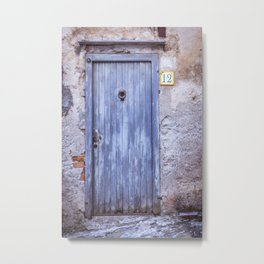Old Blue Door Metal Print