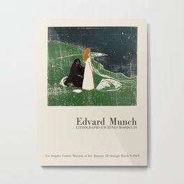Edvard Munch. Exhibition poster for LA Country Museum of Art, 1969. Metal Print