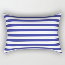 Simple Dark Blue & White Stripes Rectangular Pillow