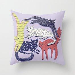 Cat Stack Throw Pillow