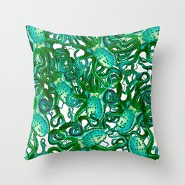 Riptide_weeds Throw Pillow