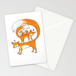 Fox Trio Stationery Cards