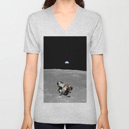 Nasa Picture 2: Apollo 11 the lunar module Unisex V-Neck