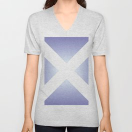 flag of scotland - with color gradient Unisex V-Neck