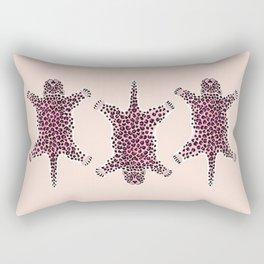 PINK LEOPARD HIDE Rectangular Pillow