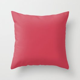From The Crayon Box – Brick Red - Bright Red Solid Color Throw Pillow