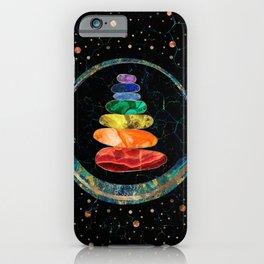 Chakras Zen Stones and Enso circle iPhone Case