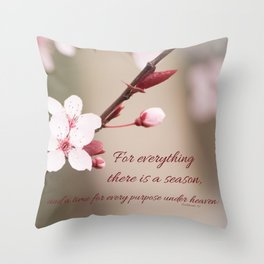 Plum's Promise Throw Pillow