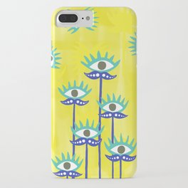 Evil Eye Nazar protective Garden Yellow iPhone Case
