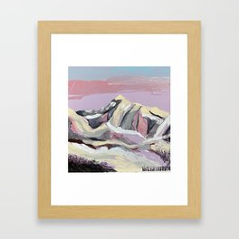 Purple Mountain Framed Art Print