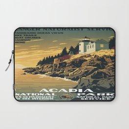 Vintage poster - Acadia National Park Laptop Sleeve