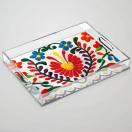 Red Mexican Flower Acrylic Tray