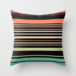 Simple striped pattern, simple, striped, stripes, multicolored stripes3 Throw Pillow