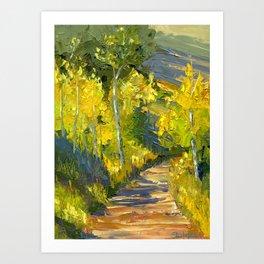 Golden Gates Art Print