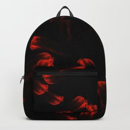 Abstract Art Painting Brush Strokes Red Black V5 Backpack
