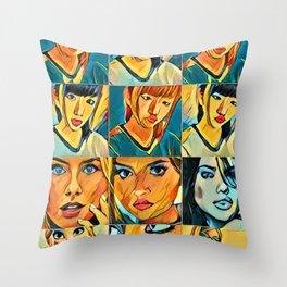 Selfy Collection Throw Pillow