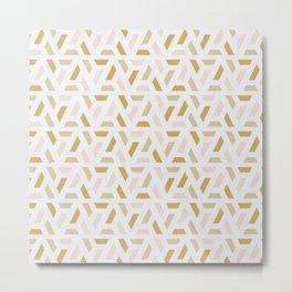 Bright abstract geometric pattern Metal Print