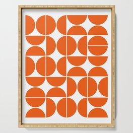 Mid Century Modern Geometric 04 Orange Serving Tray