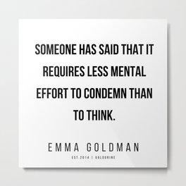 8    Emma Goldman Quotes   200602 Metal Print