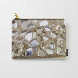 Gold Iridescence and Mirrors Carry-All Pouch