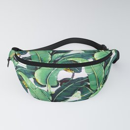 Tropical Banana leaves pattern Fanny Pack