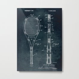 1972 - Tennis patent art Metal Print