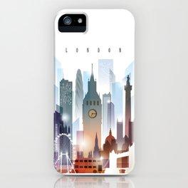 London city skyline, United Kingdom iPhone Case