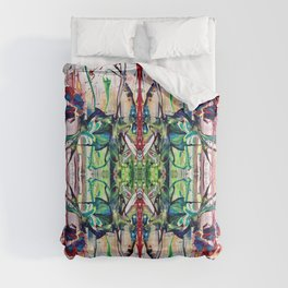 Flowerpower kaleidoscope Comforters