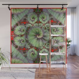 Escargot Begonias Abstract Wall Mural