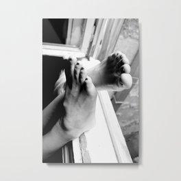 Digital photo black and white photography foot b&w Metal Print