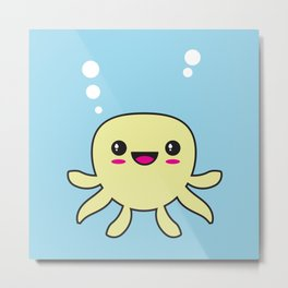 Kawaii Octopus Metal Print