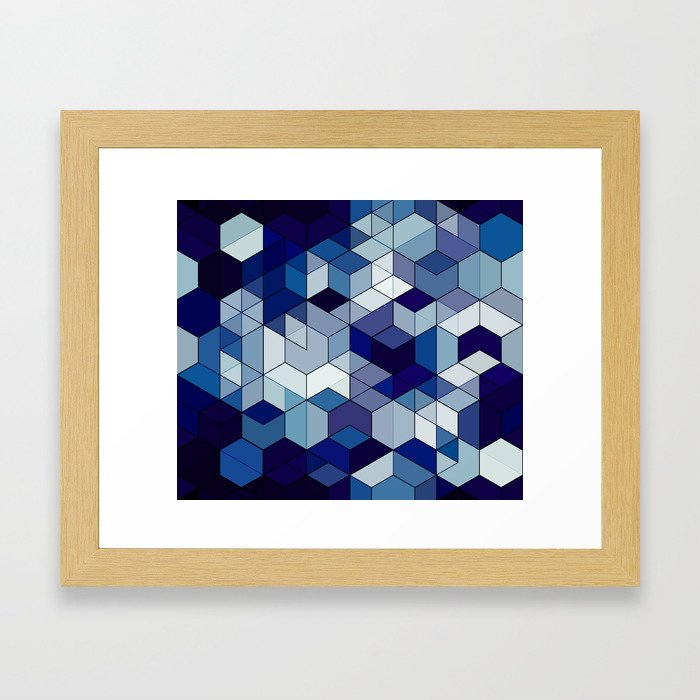 hexa Framed Art Print