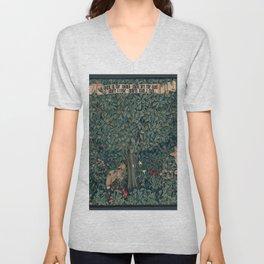 William Morris Greenery Tapestry Unisex V-Neck