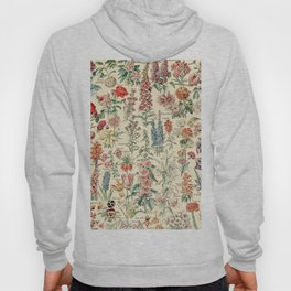 Vintage Floral Drawings // Fleurs by Adolphe Millot XL 19th Century Science Textbook Artwork Hoody