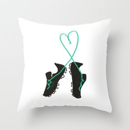 Futbol Love Throw Pillow